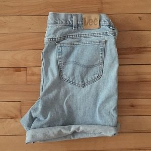 Vintage LEE Denim Jean Shorts Light Wash